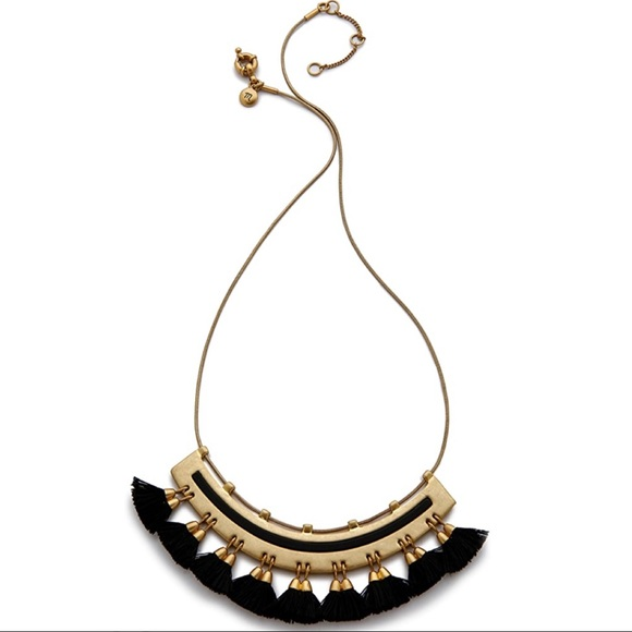 Madewell Tassel Giza Necklace in Black